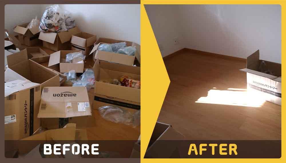 お引越しをされるためお部屋の片づけから不用品の回収までしてほしいというご相談をいただきました。