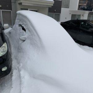 【札幌市】駐車場の除雪のご依頼☆車に積もった雪も丁寧に対応してもらえて助かったとお喜びいただけました。