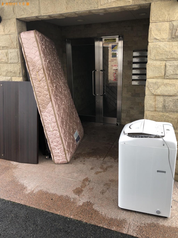 【札幌市】洗濯機、セミダブルベッドの回収・処分ご依頼 お客様の声