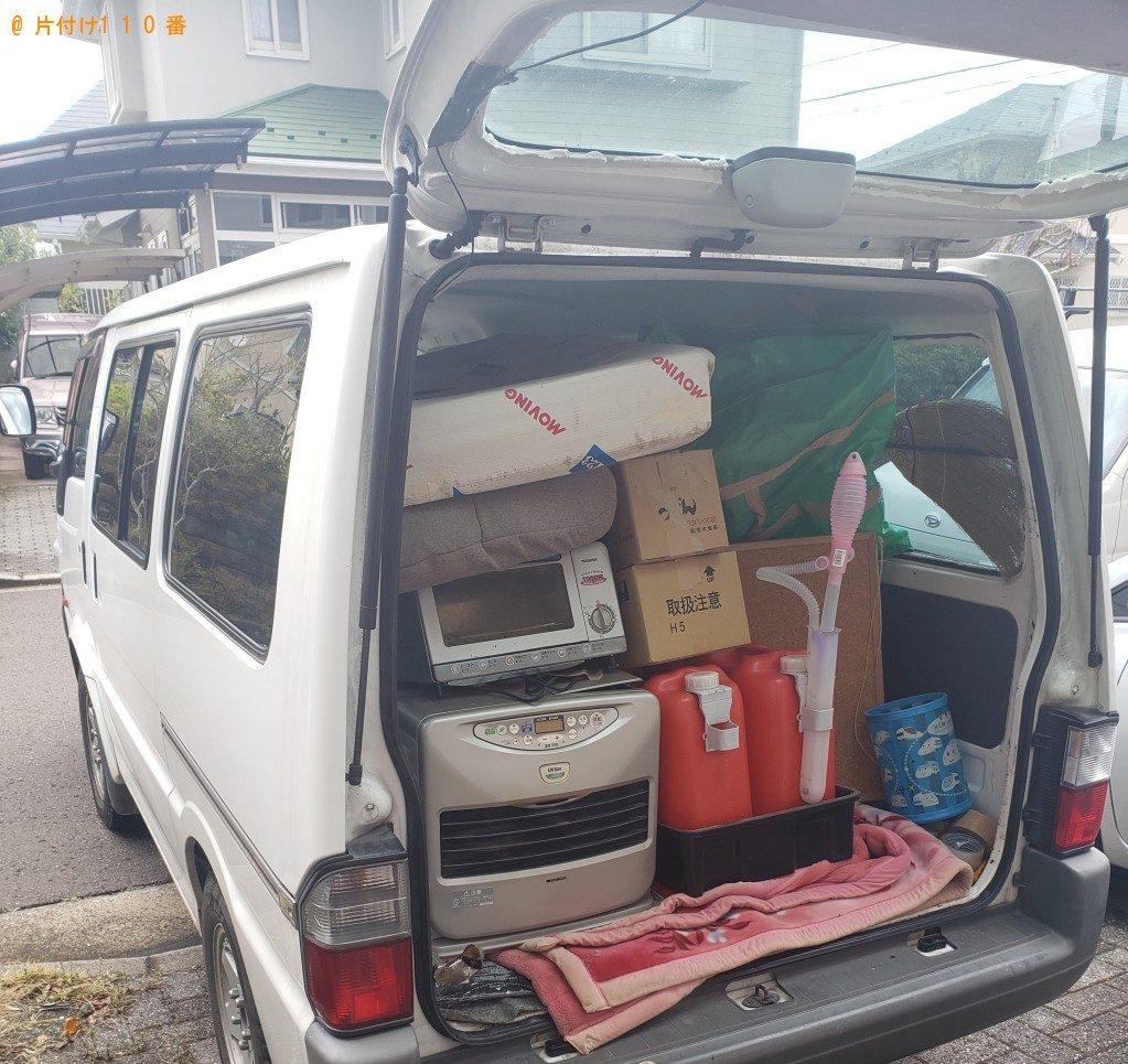 【室蘭市】遺品整理でプラスチックの三段ボックス、椅子等の回収・処分ご依頼