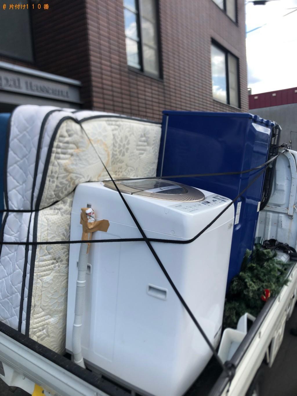 【札幌市西区】セミダブルマットレス、電子レンジ、洗濯機の回収