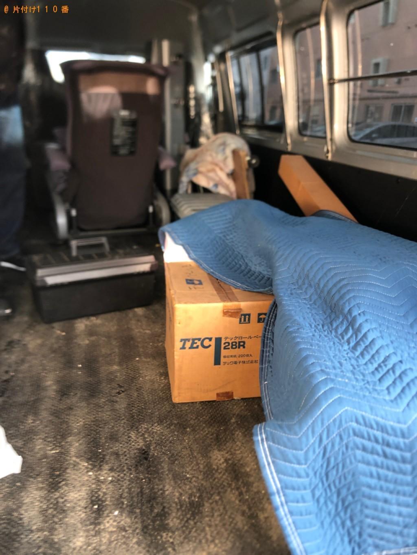 【函館市】遺品整理でテレビ、シングルベッド、衣装ケース、傘等の回収