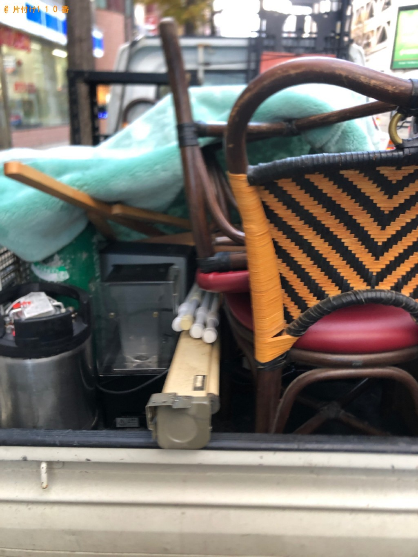 【札幌市中央区】椅子、突っ張り棒等店舗の備品の回収・処分ご依頼