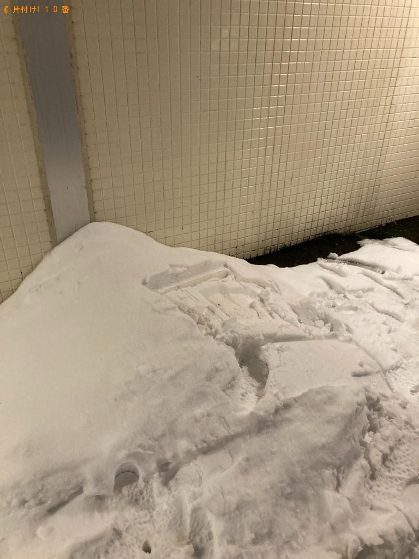【函館市】ラック、下駄箱、レンジ台、食洗機、電子レンジの回収