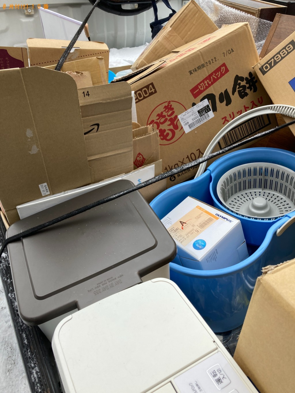 【札幌市西区】バケツ、ゴミ箱、小型家電、ダンボール等の回収・処分