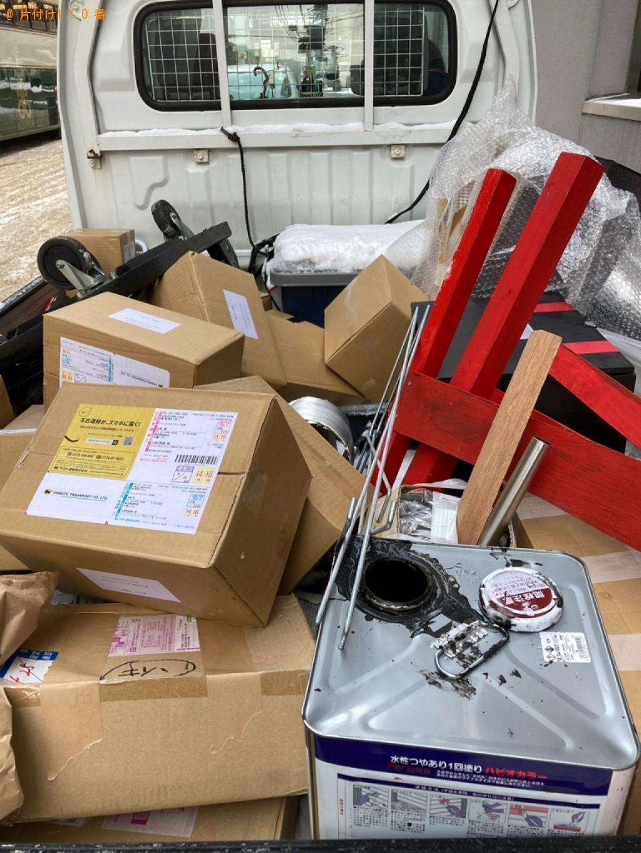 【札幌市中央区】ダンボール、チラシ、塗料の缶等の回収・処分ご依頼