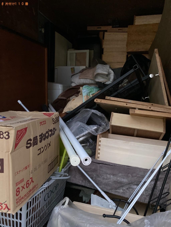【札幌市中央区】布団、家具、家電、カゴ、掃除用具等の回収・処分