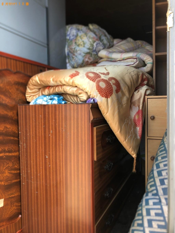 【伊達市】遺品整理に伴いタンス、衣装ケース、布団の回収・処分ご依頼