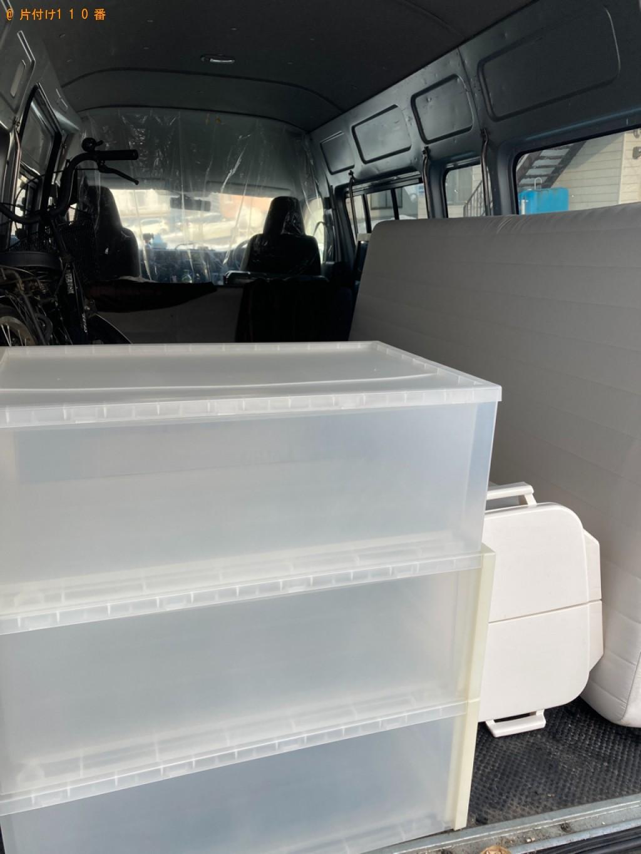 【札幌市白石区】スタンドミラー、衣装ケース、ゴミ箱等の回収・処分