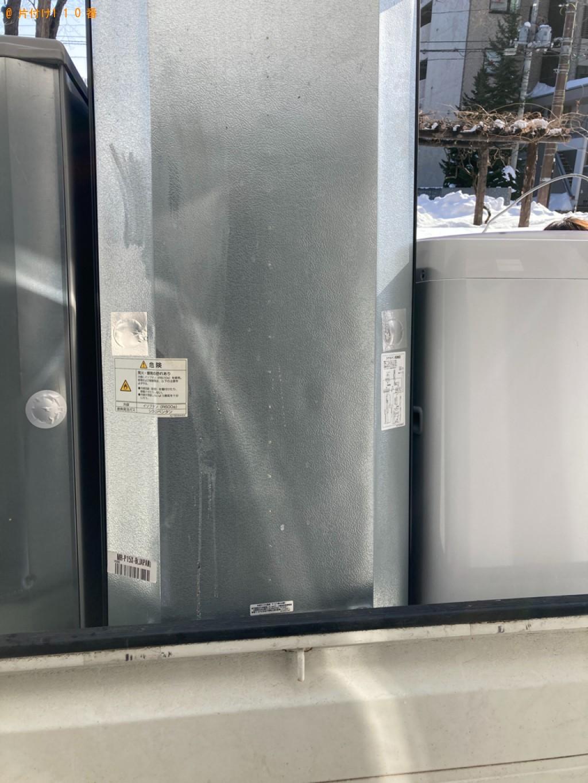【札幌市中央区】冷蔵庫、洗濯機、食器棚、カラーボックス等の回収