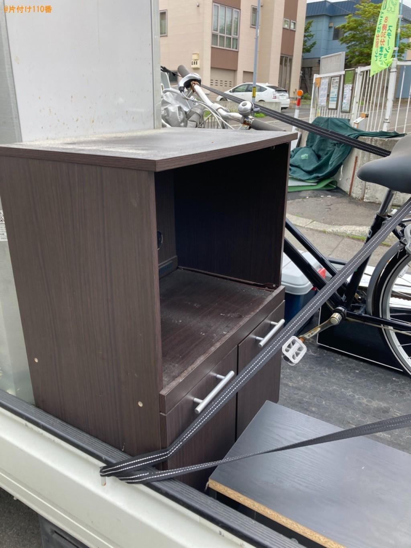 冷蔵庫、レンジ台、自転車、電子レンジ等の回収