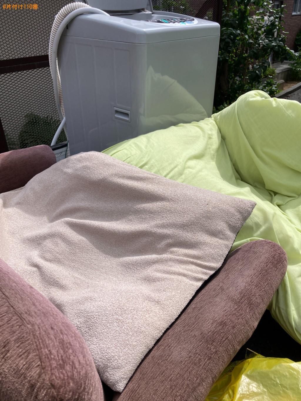 【札幌市厚別区】洗濯機、シングルベッドマットレス、ソファーの回収